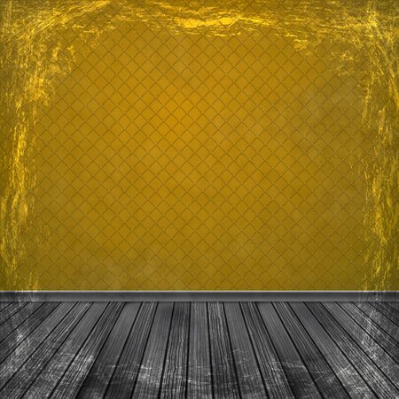 Orange grunge background. Old abstract vintage texture with frame and border. Stock Photo