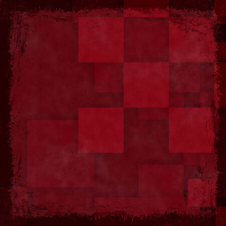 Red grunge background. Old abstract vintage texture with frame and border. photo