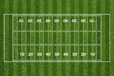 Campo di football americano con segni hash e linee di cantiere. Grass strutturato. Archivio Fotografico - 31821541