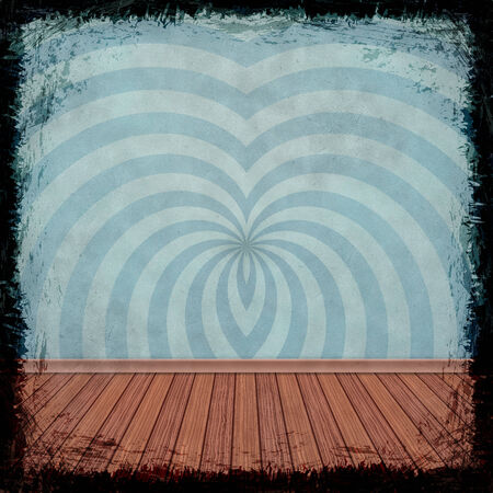 Blue grunge background. Old abstract vintage texture with frame and border. photo