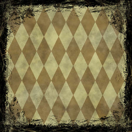 Brown, Gold grunge background. Old abstract vintage texture with frame and border. photo