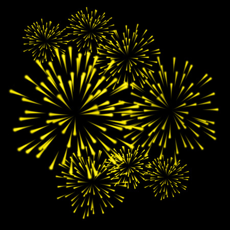date night: fireworks colorful carnival background