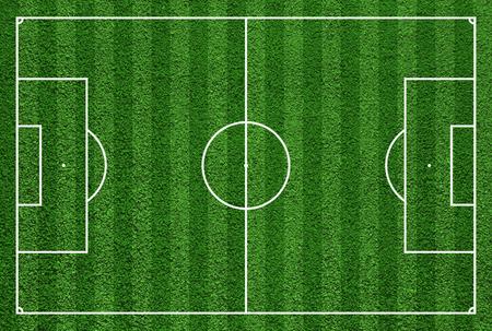 サッカー場やサッカー場の平面図