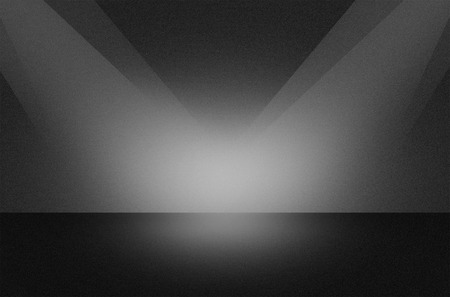 Black texture scene or background with spotlight