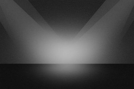 Zwarte textuur scène of achtergrond met schijnwerpers