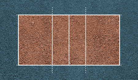Volleyball court. Top view field. Board background. photo