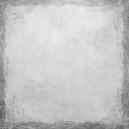 White, Grey, silver grunge background. Old abstract vintage texture with frame and border. photo