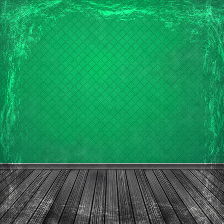 Green grunge background. Old abstract vintage texture with frame and border. Stock Photo