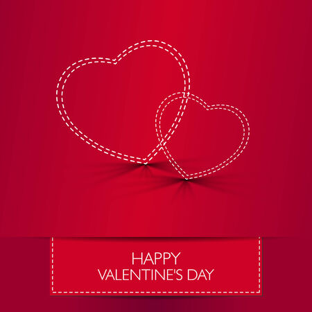 Love card Happy Valentines Day concept.  Vector