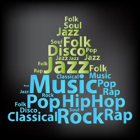 Text Musica di parola concept nuvola Typography. Archivio Fotografico - 35284953