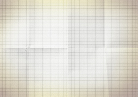 college ruled: Blank millimeter old yellow gold paper grid sheet background or textured