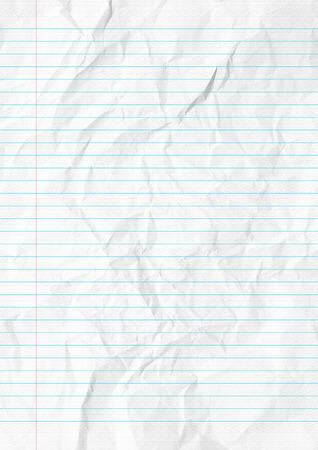 margen: Papel blanco líneas dobladas con margen Foto de archivo