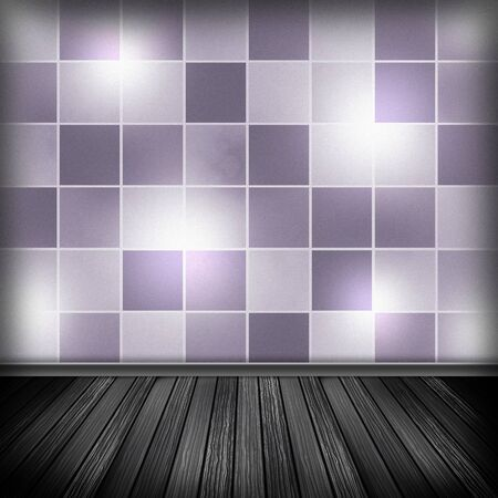 violet residential: Empty room, interior with wallpaper. High resolution texture background. Stock Photo
