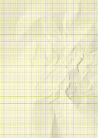 millimeter: yellow color lines graph millimeter paper. Stock Photo