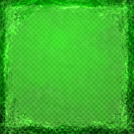 celadon green: Green grunge background. Old abstract vintage texture with frame and border. Stock Photo