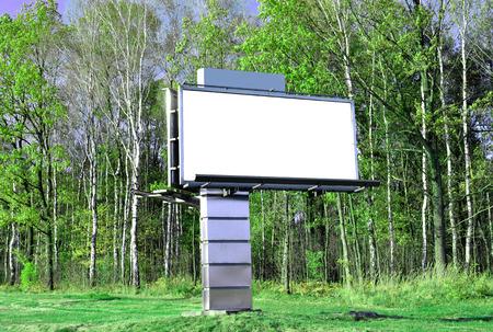 highroad: Blank billboard or road sign Stock Photo