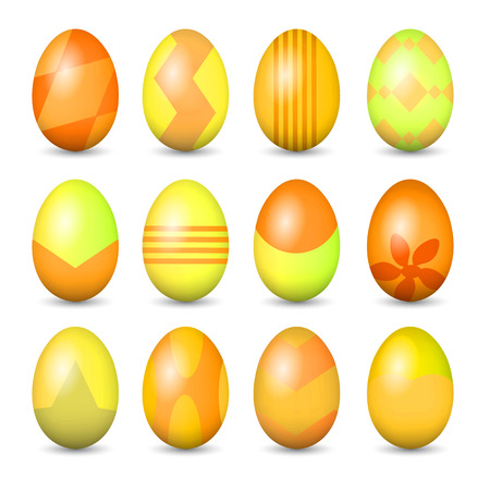 Easter eggs set. High resolution color illustration.