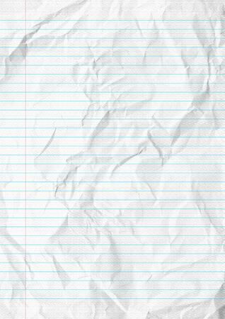흰색 구겨진 된 라인 종이 학교 배경