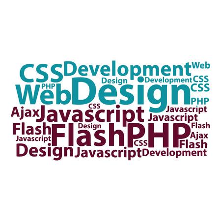 keywords: Text cloud. Seo wordcloud. Typography concept. Vector illustration.
