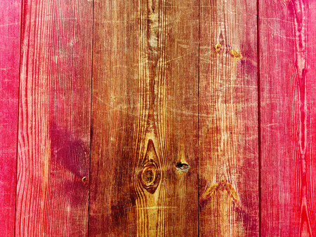 Old background of wooden colorful planks board texture