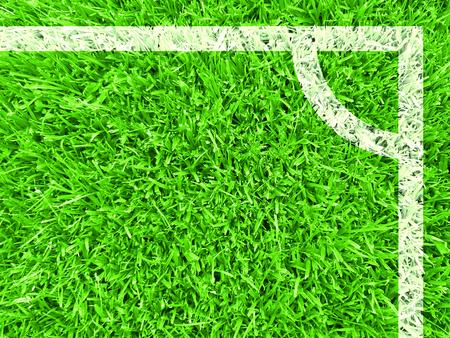 Top view of corner football field. Imagens