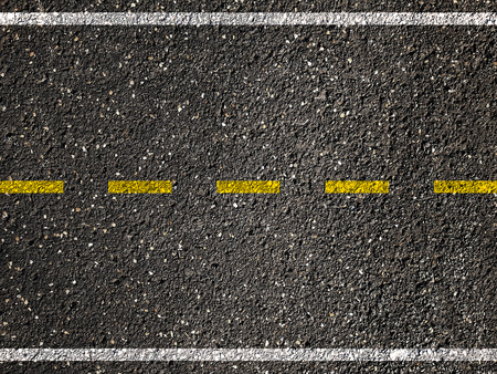 Yellow line on asphalt road background.