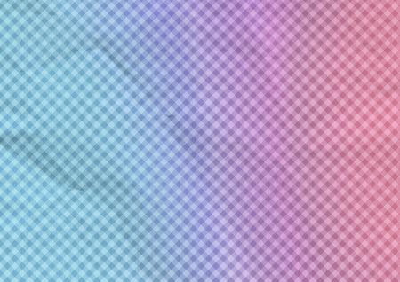 Colorful background folded paper. Ornate diagonals tartan.