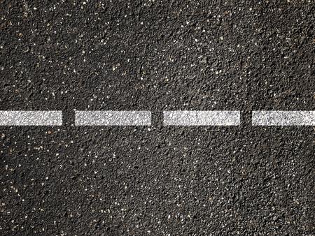 Asphalt road with dividing white line. Imagens