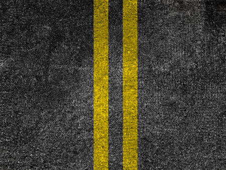 Asphalt road with double yellow lines Stok Fotoğraf