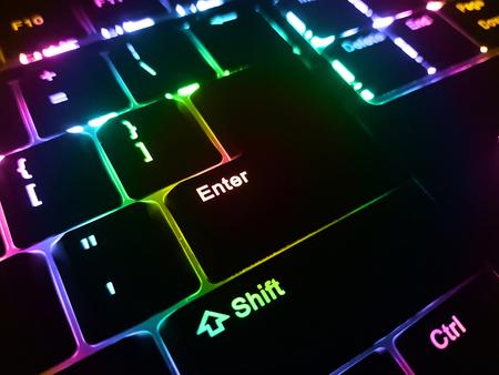 Low profile backlit keyboard. Rainbow colors backlight.