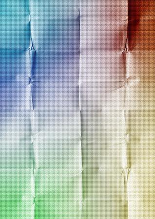 Colorful crumpled tartan paper background Banco de Imagens