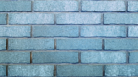 Brick wall blue background or texture