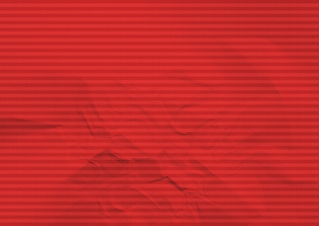 Striped folded paper red color background texture Banco de Imagens