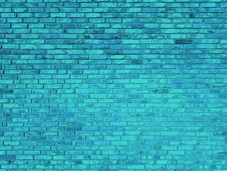 Vintage brick stone wall blue texture background Banco de Imagens - 127590963