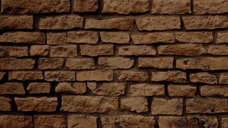 Brown brick stone wall texture background