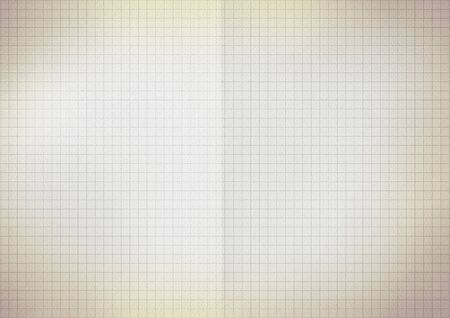 Blank millimeter old yellow gold paper grid sheet background or textured