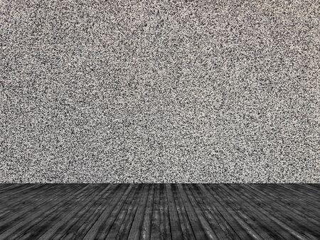 Plaster wall texture empty room Banco de Imagens