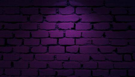 Purple bricks wall with spotlight background
