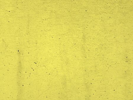 Blank cement plaster yellow texture surface of wall background Banco de Imagens