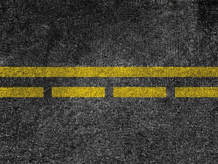 Asphalt road with dividing yellow lines Stok Fotoğraf
