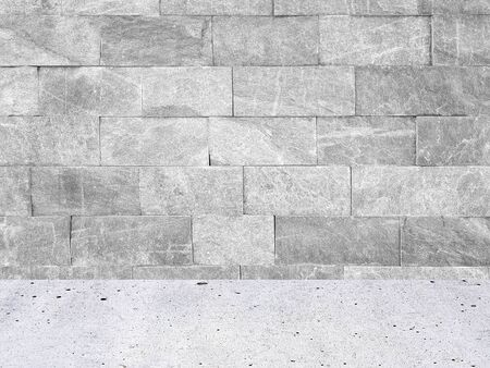 White premium wall tiles background with pavement.