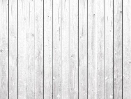 White new wooden vertical planks texture board background Banco de Imagens