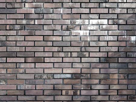Old vintage brick wall background texture Banco de Imagens