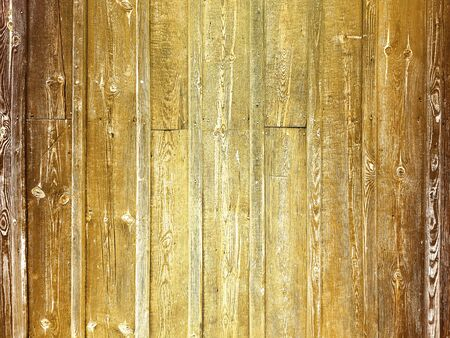 Top view of background brown wooden planks board texture
