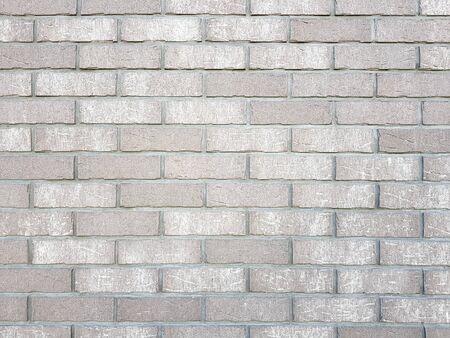 White brick wall pattern texture background