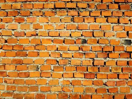 Red brick wall texture background Banco de Imagens