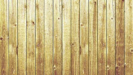 Background yellow wooden planks board texture Banco de Imagens