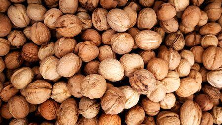 Walnuts background  texture.
