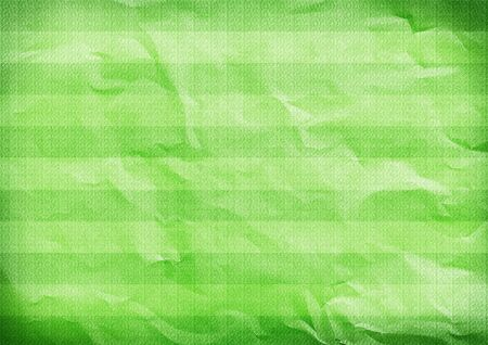 Green folded striped vertical paper