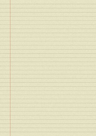 Sheet lined paper texture background.